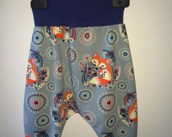 Baby blue and grey Jersey harem pants