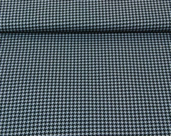 SALE fabric cotton patchwork Houndstooth black and grey x1m