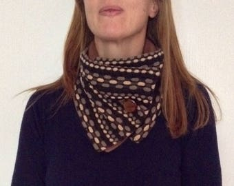 """Smarties"" scarf in shades of Brown and beige"