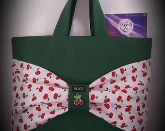 Cherry bag handbag Tote bow tie