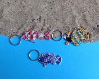 Key fish flat beads