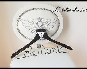 """Groom"" personalized hanger for your wedding"