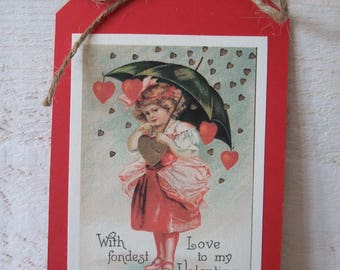Set of 5 cards special Valentine