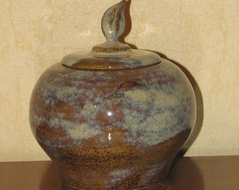 LEAF glazed stoneware box