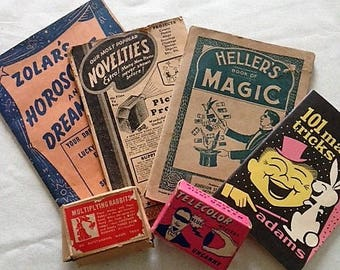 Vintage Horoscope, Novelty and Magic Books and Novelty Boxes