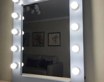 mirror with lights. vanity mirror with lights - hollywood makeup bulbs not included
