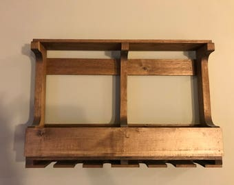 Hand-crafted Wooden Wine Rack