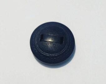 1 large vintage, fancy round wooden button, 30 mm