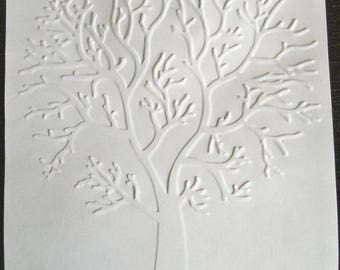 SCRAPBOOKING card embossed tree color choice