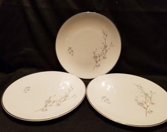 """Royal Doulton """"Summer Song"""" fine china salad plates set of 3"""