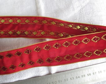 10 m bright red and Gold Ribbon