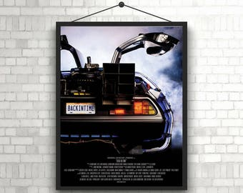 Back to the Future Delorian Time Machine 80s movie Poster