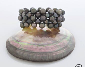 """""""Coco"""" bracelet with Tahitian pearls"""