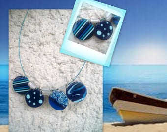 FIMO NECKLACE... the ocean...