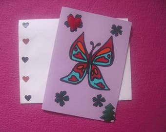 Jewelry card and matching envelope