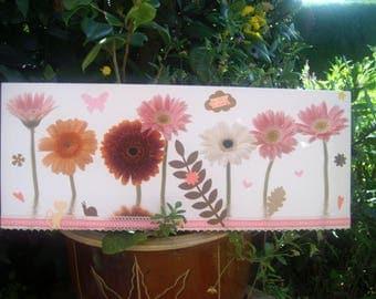 FRAME pretty flowers, pink...