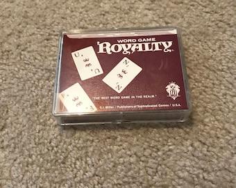 Vintage Royalty Cards Word Game