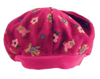 Beret red blooms baby