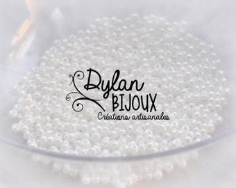 10 gr 2.3 mm 10/0 white ⌀ Pearly seed beads