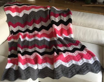 CROCHET patterns herringbone PLAID - end of bed