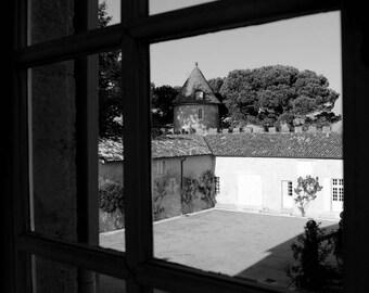 "Photography black and white: ""Window on Court"" - Saint-Emilion, FRANCE - 2011"