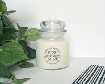 17oz Clean Cotton Soy Candle | Apothecary Jar Scented Soy Candle