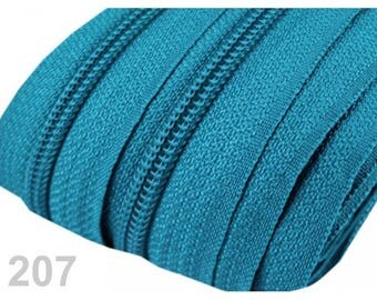 zipper at the meter turquoise mesh 3 mm spiral