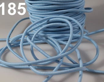 1 m of sky blue 3 mm elastic cord
