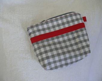Small grey gingham fabric