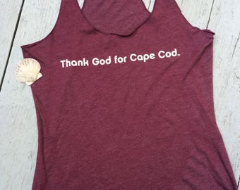 Women's Thank God for Cape Cod Tank Top