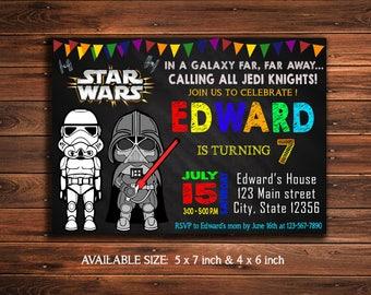 Star Wars Invitation - Star Wars Birthday Invitation - Star Wars Party - Star Wars Invite - Star Wars Party - Star Wars Printable