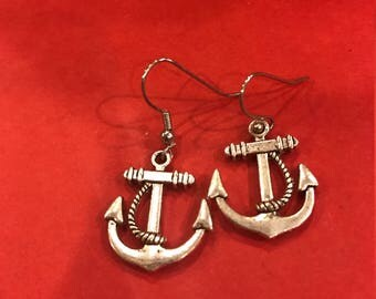 Anchor Earring Pair