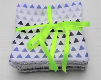 Set of 8 wipes (Triangle blue)