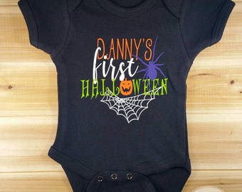 Baby First Halloween Custom Onesie, Halloween Onesie, Halloween Bodysuit, Cute Onesie, Baby Halloween, Halloween Outfit, Halloween Baby