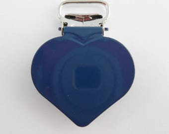 20 strap, fastener clamps pacifier & plush heart Navy from 15 mm