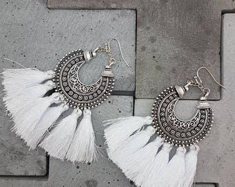 Dangle Tassel Earrings - Adley