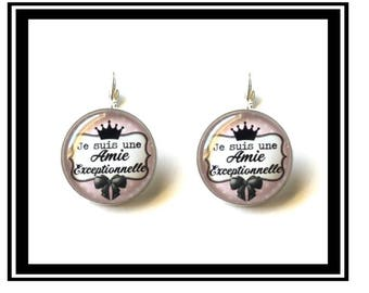 "Earrings ""I'm a great friend"" humor, funny, custom, thank-you gift, quotes, Boho chic"