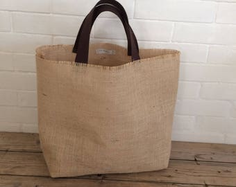 BURLAP canvas tote bag