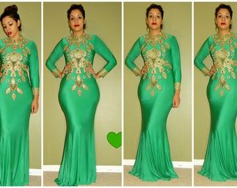 Nabid Kaft dress with Matching Scarf/  Kaftan dress/ Kaft/ Abaya/spandex