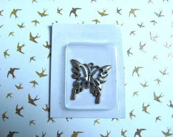 Butterfly - silver/bronze charm