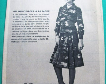 """Old fashion 1970 """"women of today"""" pattern No. 1329-Vintage"""