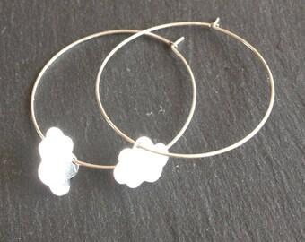 Earrings Creole 925 Silver cloud
