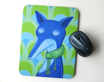 Mousepad fur collar frog, frog, Fox