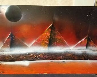Orange Pyramids