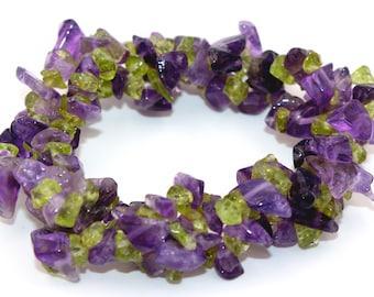 Amethyst apatite 3-way splitter bracelet