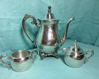 Vintage Wm Rogers Silver Tea Set