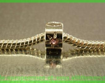 Pearl N22 clip stopper European blocker rhinestones for charms bracelet