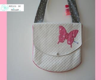 """""""the little Butterfly in glitter"""" little girl purse"""