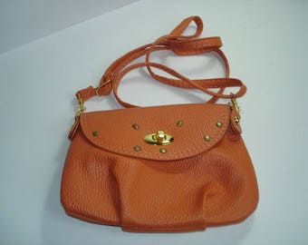 mini faux Golden customize clasp shoulder bag