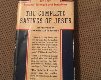Antique 1942 Complete Saying of Jesus: King James Version by Arthur Hinds